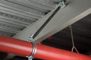 Seismic Bracing of Pipe using Rigid Brace